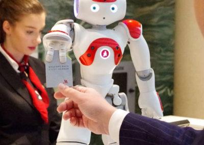 Hotel-receptie-robot